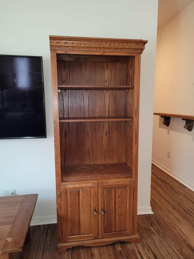 Lot # 488 Wood Book Case