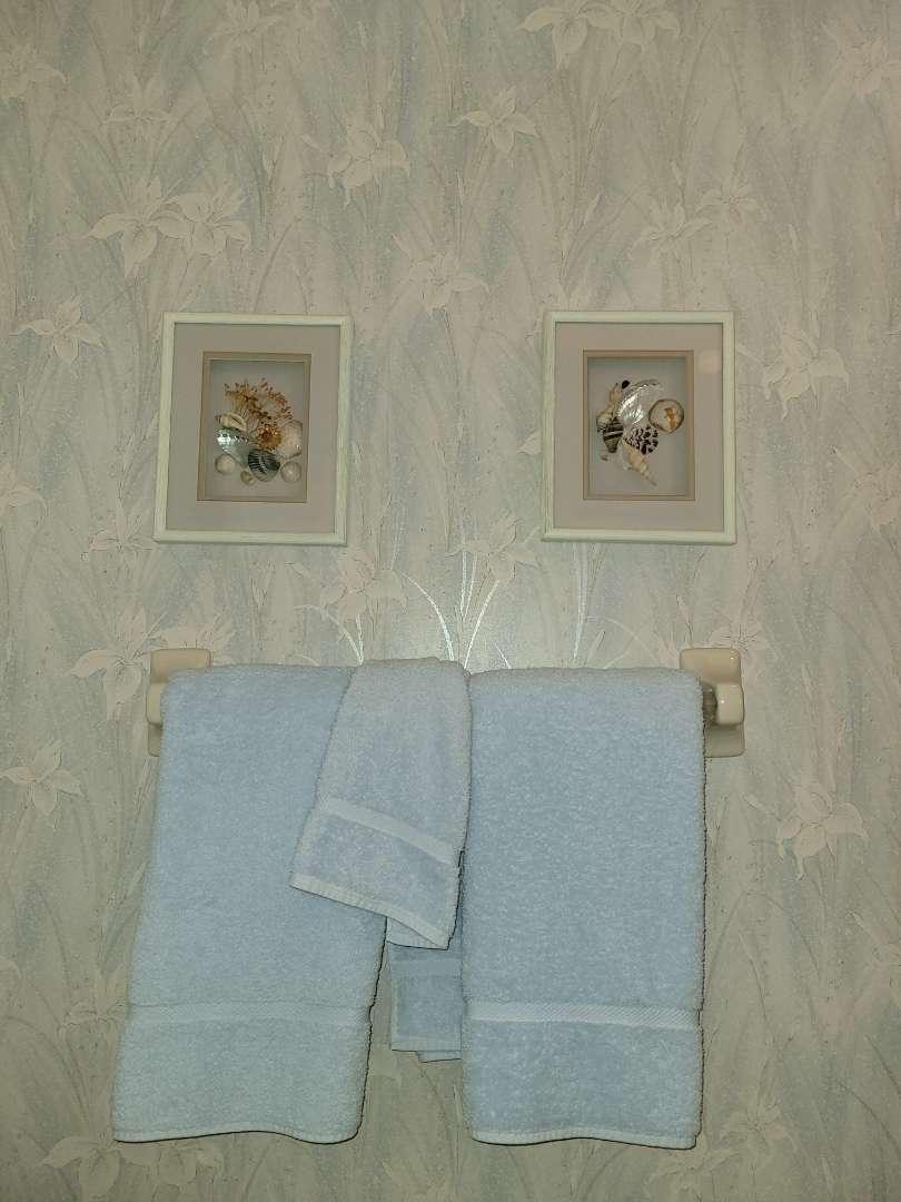 Lot # 1 Guest Towels & Seashell Wall Art
