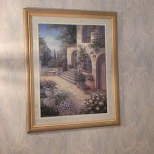 Lot # 25 Gorgeous Framed Painting- Signed Viviane Flasch