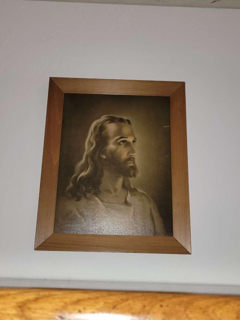 Lot # 29 Vintage Lithograph of Jesus- Signed Warner Sallman