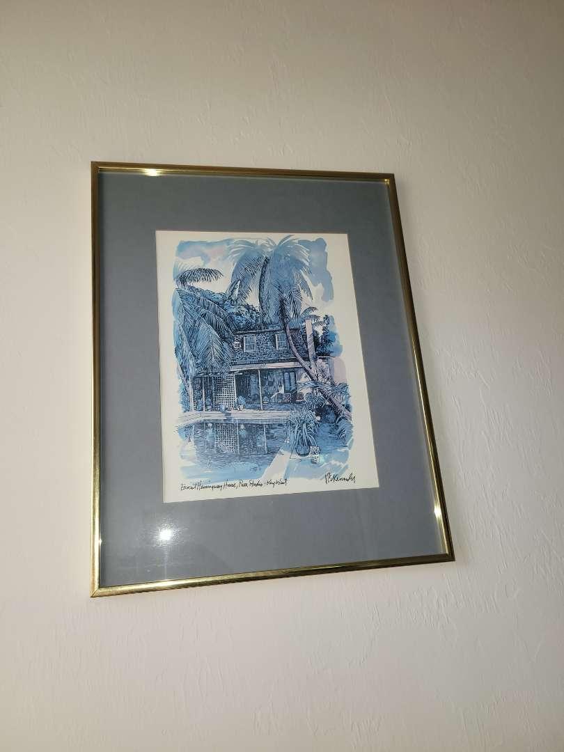 "Lot # 31 Framed Painting ""Ernest Hemingway House- Rear Studio- Key West"" - R. Kennedy"