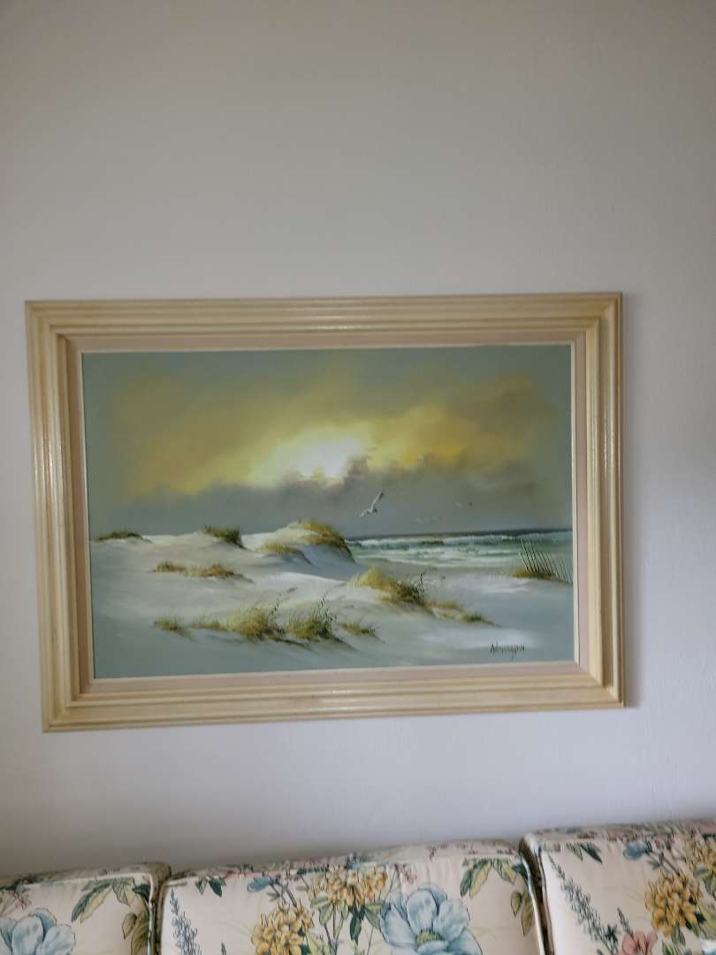 Lot # 57 Beautiful Framed Seascape Painting - Signed Remington