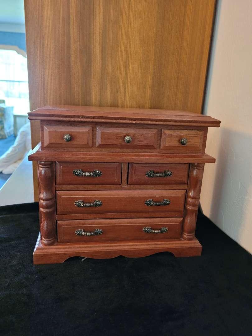 Lot # 79 Nice Wood Jewelry Box