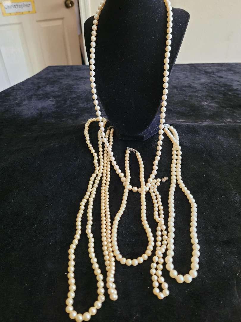 Lot # 81 Faux Pearl Necklaces
