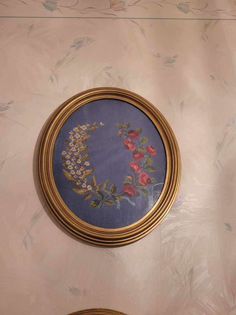 Lot # 95  Framed Embroidered Art