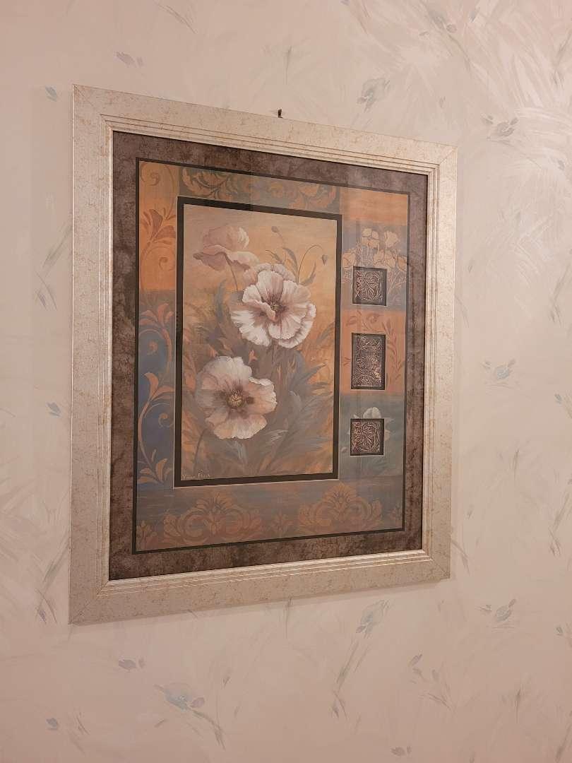 Lot # 97 Beatiful Flower Wall Art by Vivian Flasch - Framed & Matted