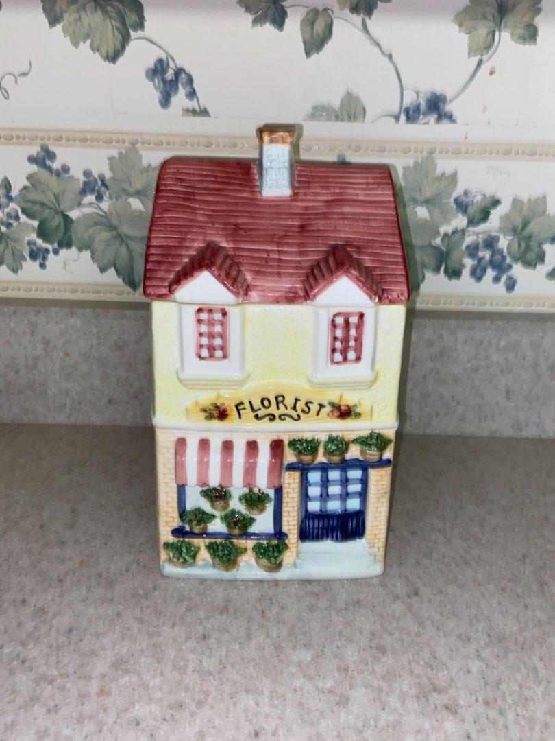 Lot # 100 Adorable Florist Shop Cookie Jar