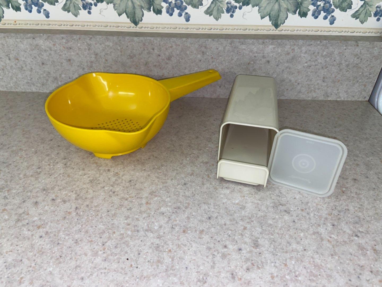 Lot # 114 Vintage Tupperware Colander & Butter holder