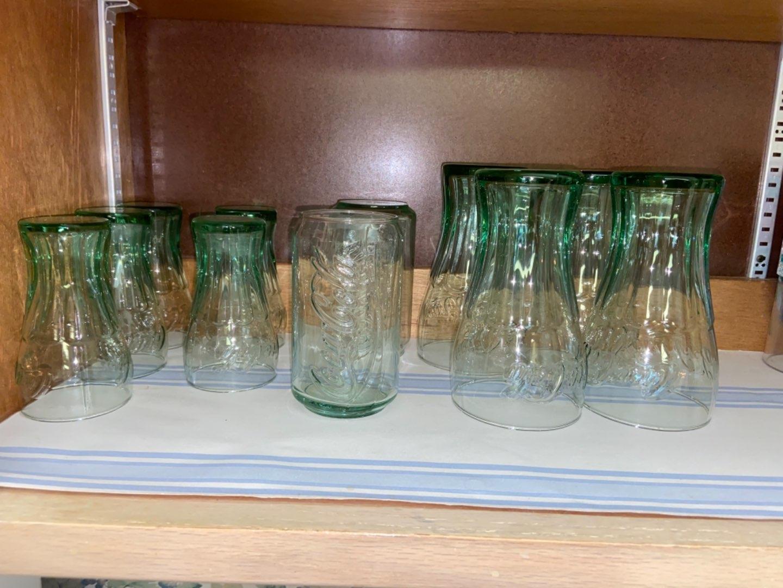 Lot # 137 Glass Coca-Cola Glasses