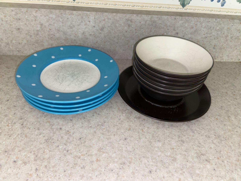 Lot # 141 Mikasa Bowls & Crofton Plates