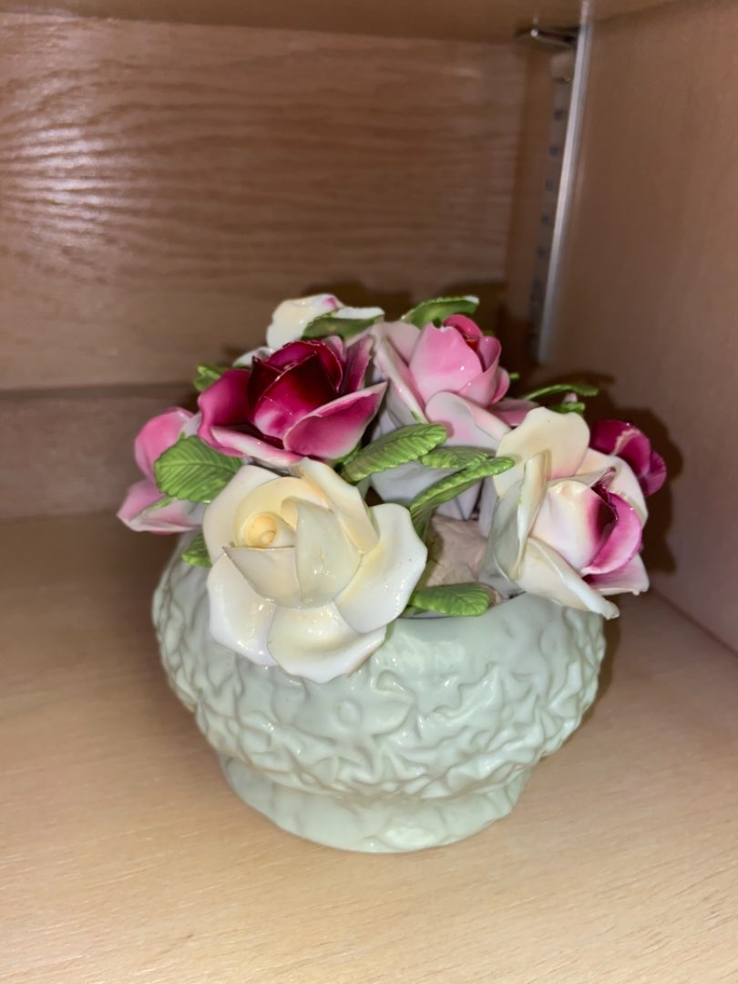 Lot # 159 Staffordshire Floral Decor (small chip on flower)