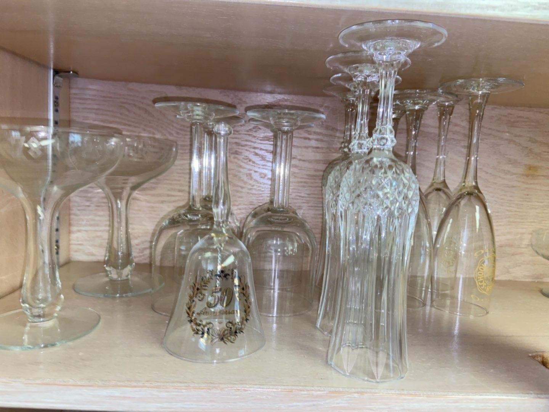 Lot # 174 Crystal Flutes & Glassware
