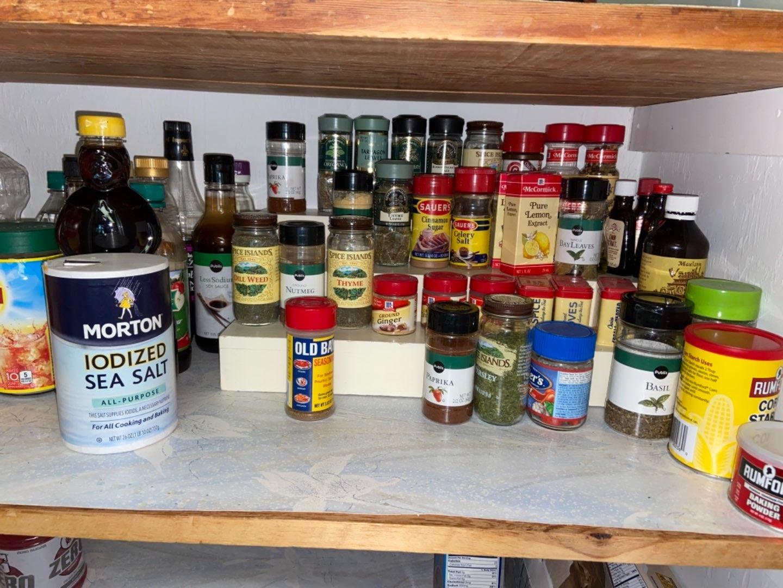 Lot # 180 Spice Shelf & Spices