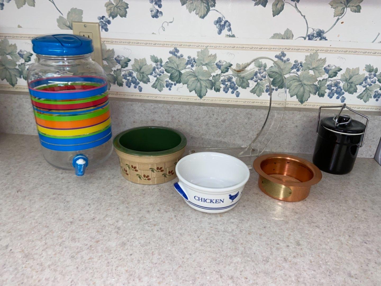 Lot # 186 Tea Pitcher, Bowls & More