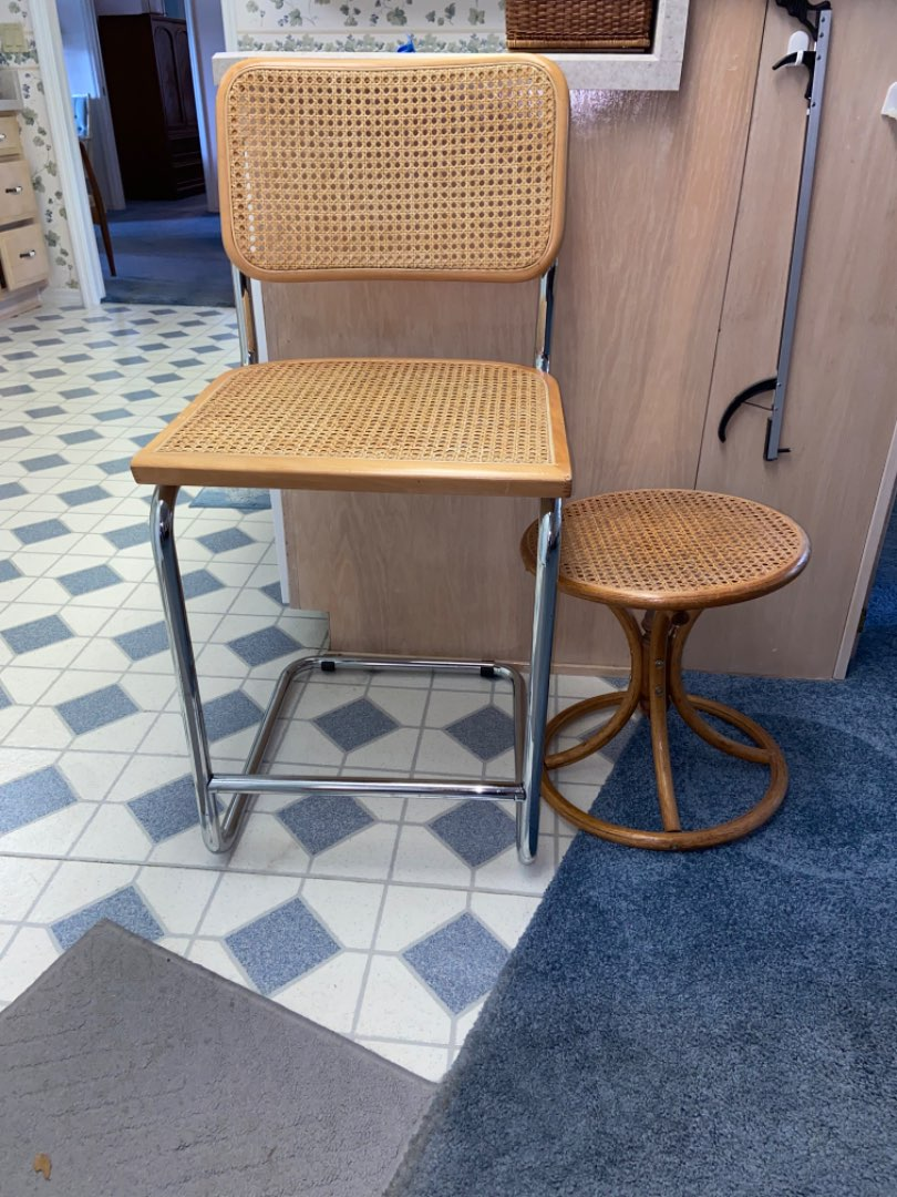 Lot # 200 Vintage Chair & Side Table