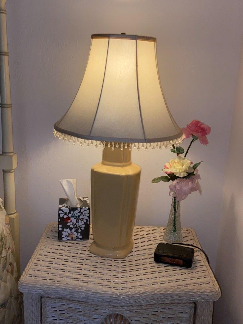 Lot # 206 Lamp, Vase & Alarm Clock