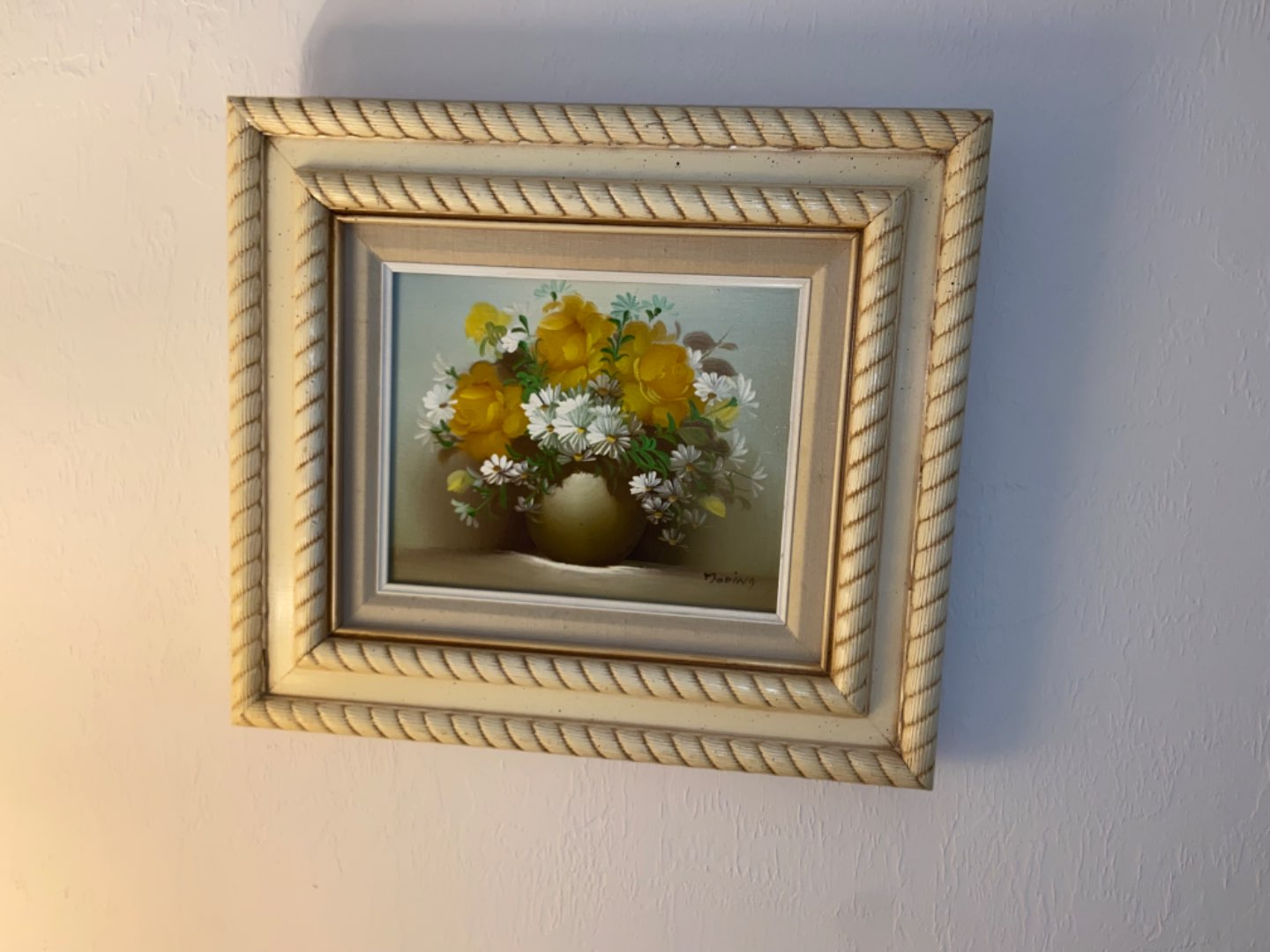 Lot # 208 Signed Floral Painting