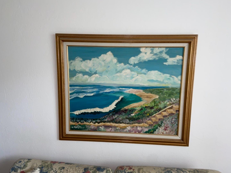Lot # 219 Framed Oil on Canvas Landscape Artwork - Signed