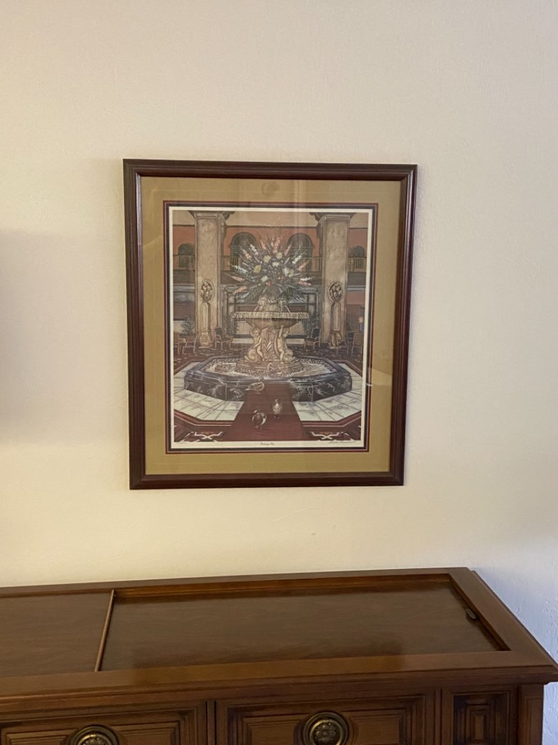 Lot # 232 Peabody Pets By Louise Dunavant - Signed, Matted & Framed