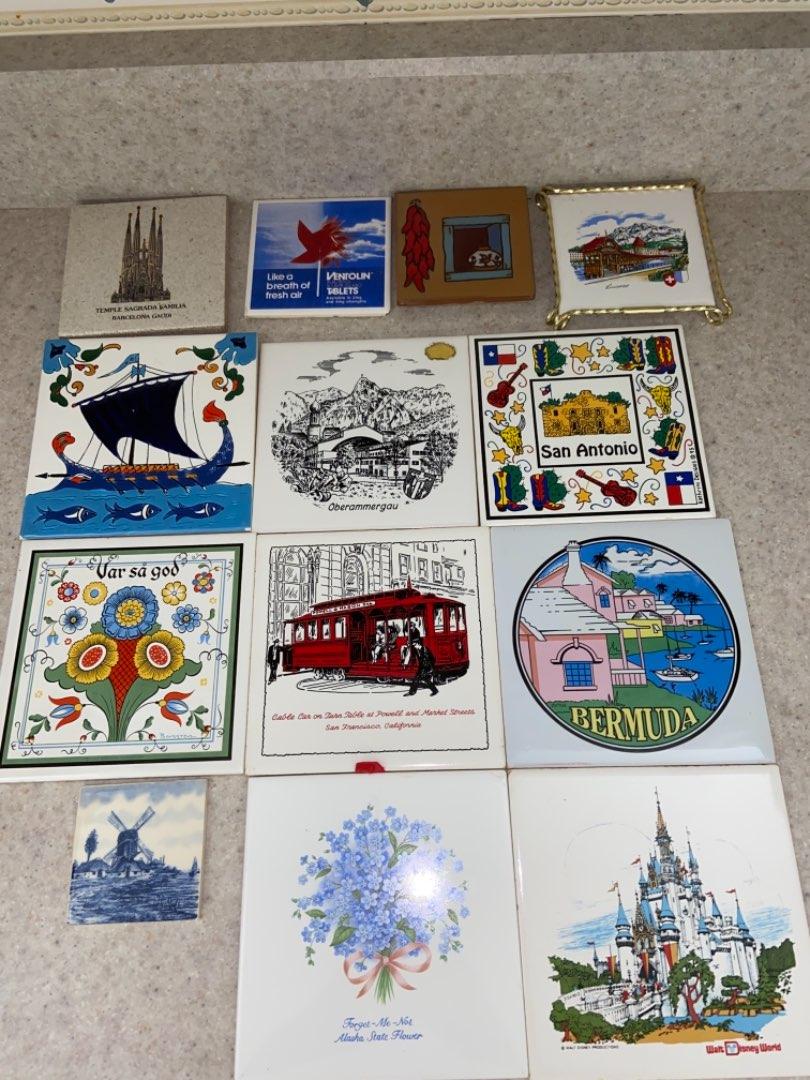Lot # 235 Decorative/ Collectible Tiles