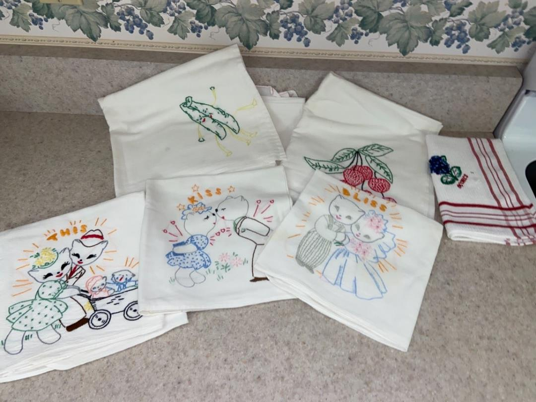 Lot # 238 Beautiful Needle Point Towels
