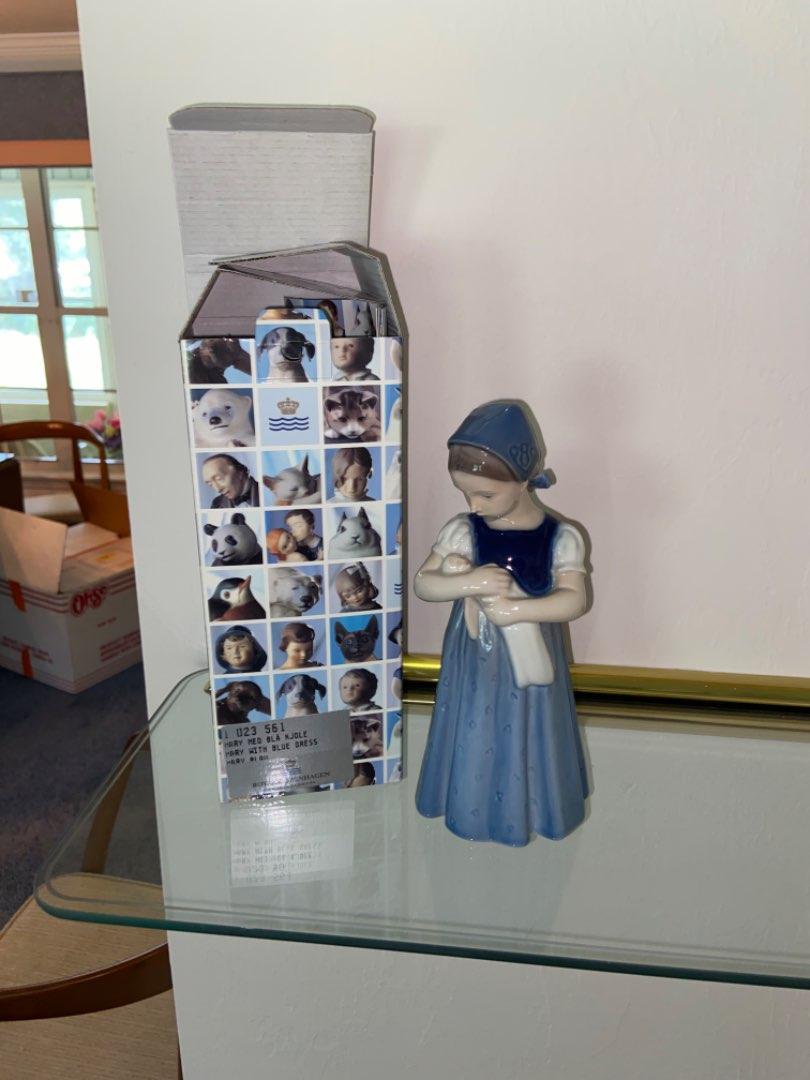 Lot # 250 Royal Copenhagen Mary Girl in blue dress, Bing & Grondahl figurine no. 2721