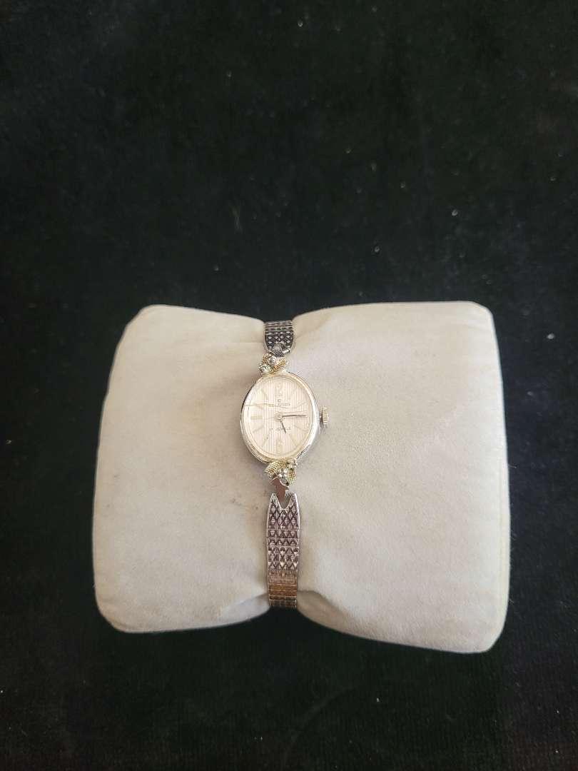 Lot # 259 1/20 10k GF Helbros 17 Jewel Watch - Has Small Diamonds on Side