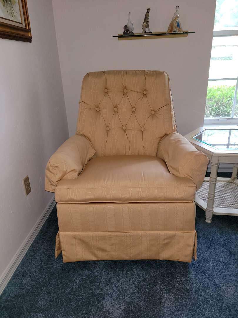 Lot # 270  Vintage Swivel Rocking Chair