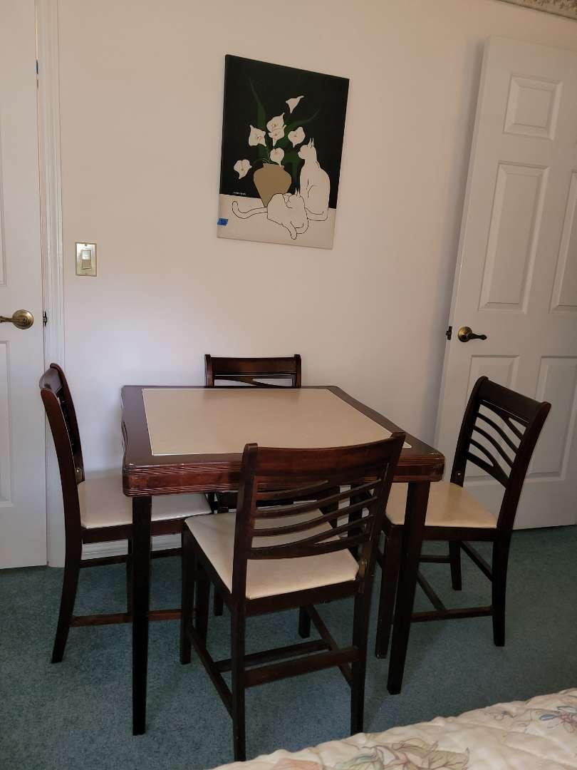 Lot # 283 Vintage Cornet Folding Furniture Table & Chair Set