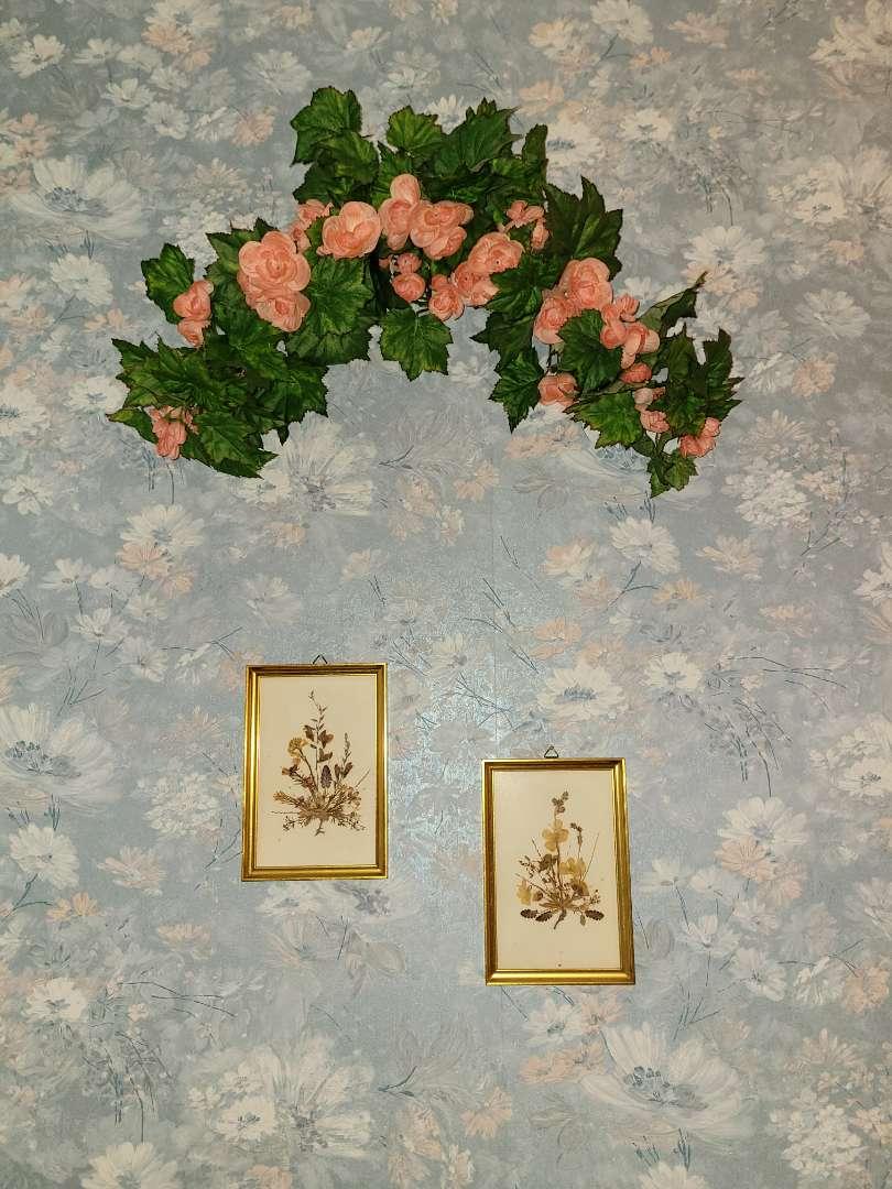 Lot # 296 Framed Dried Flower & Faux Flower Bouquet