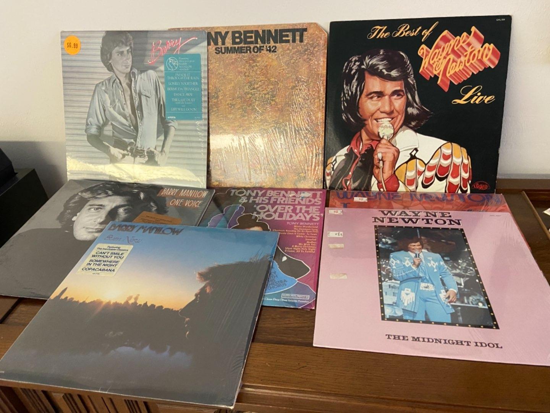 Lot # 300 Newton, Manilow & Bennett Records