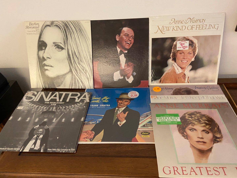 Lot # 301 Sinatra, Streisand (w/ poster) & Murray Records
