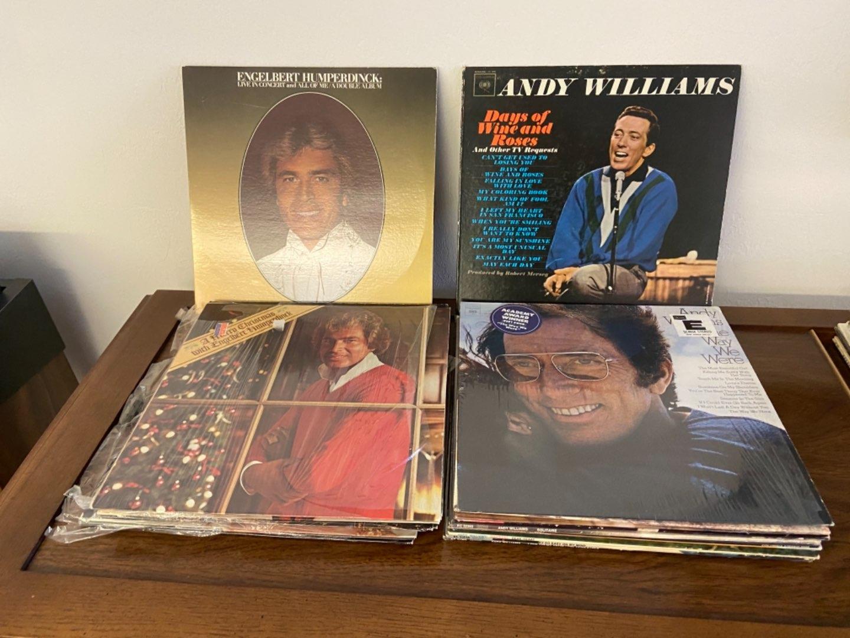 Lot # 306 Andy Williams & Engelbert Humperdinck Records