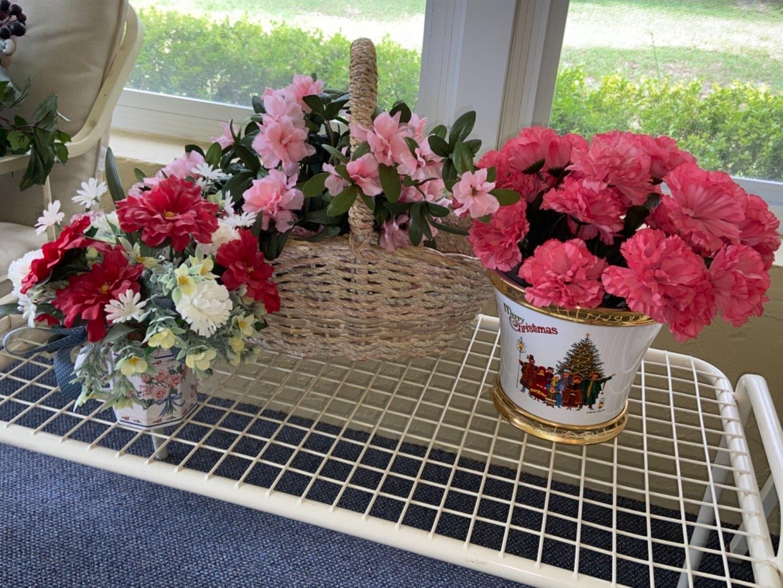Lot # 356 Faux Flowers