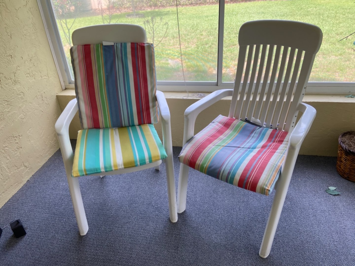 Lot # 358 (2) Outdoor Sitting Chairs w/ Cushions