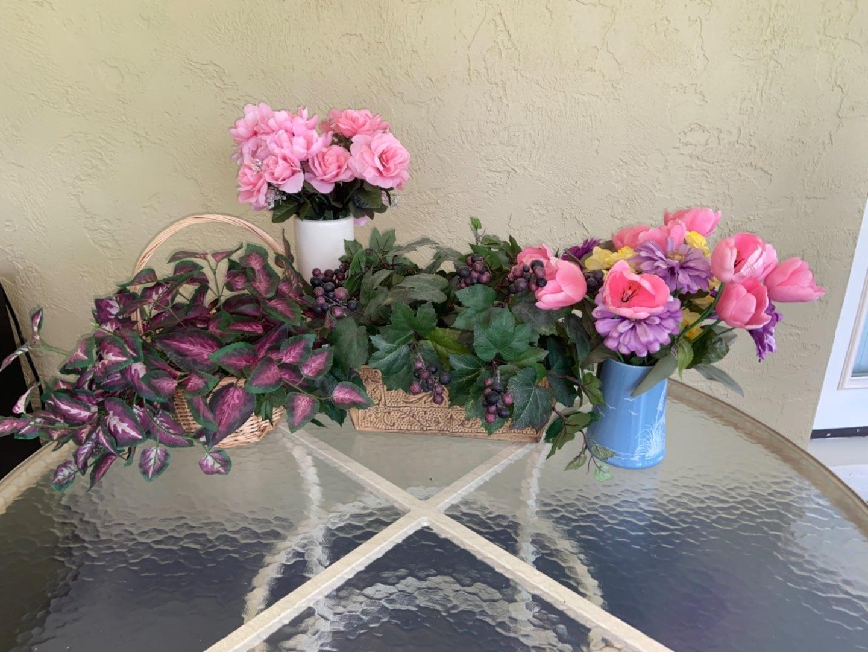 Lot # 367 Faux Flowers