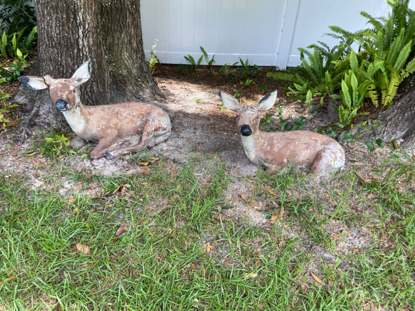 Lot # 373 Cement Deer (they are damaged)