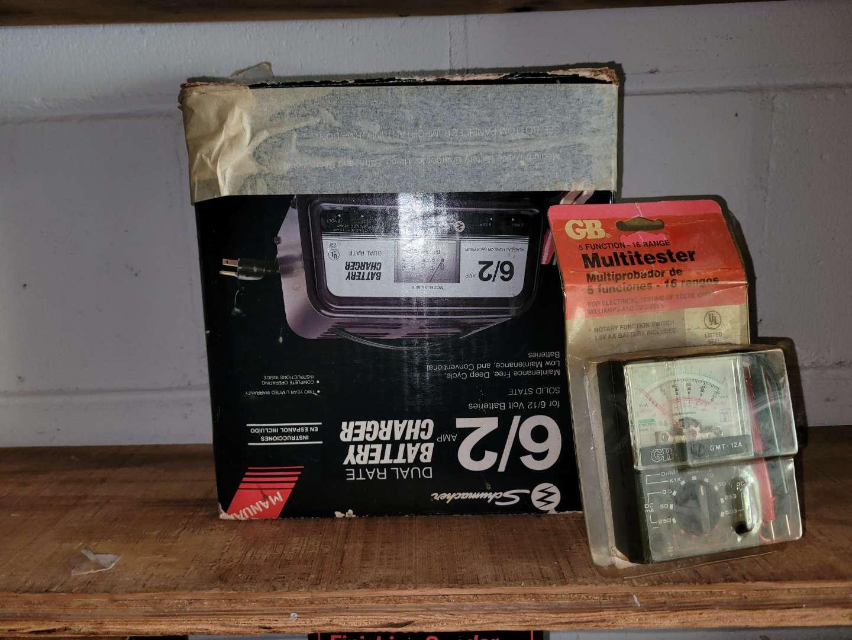 Lot # 403 Battery Charger & Multitester