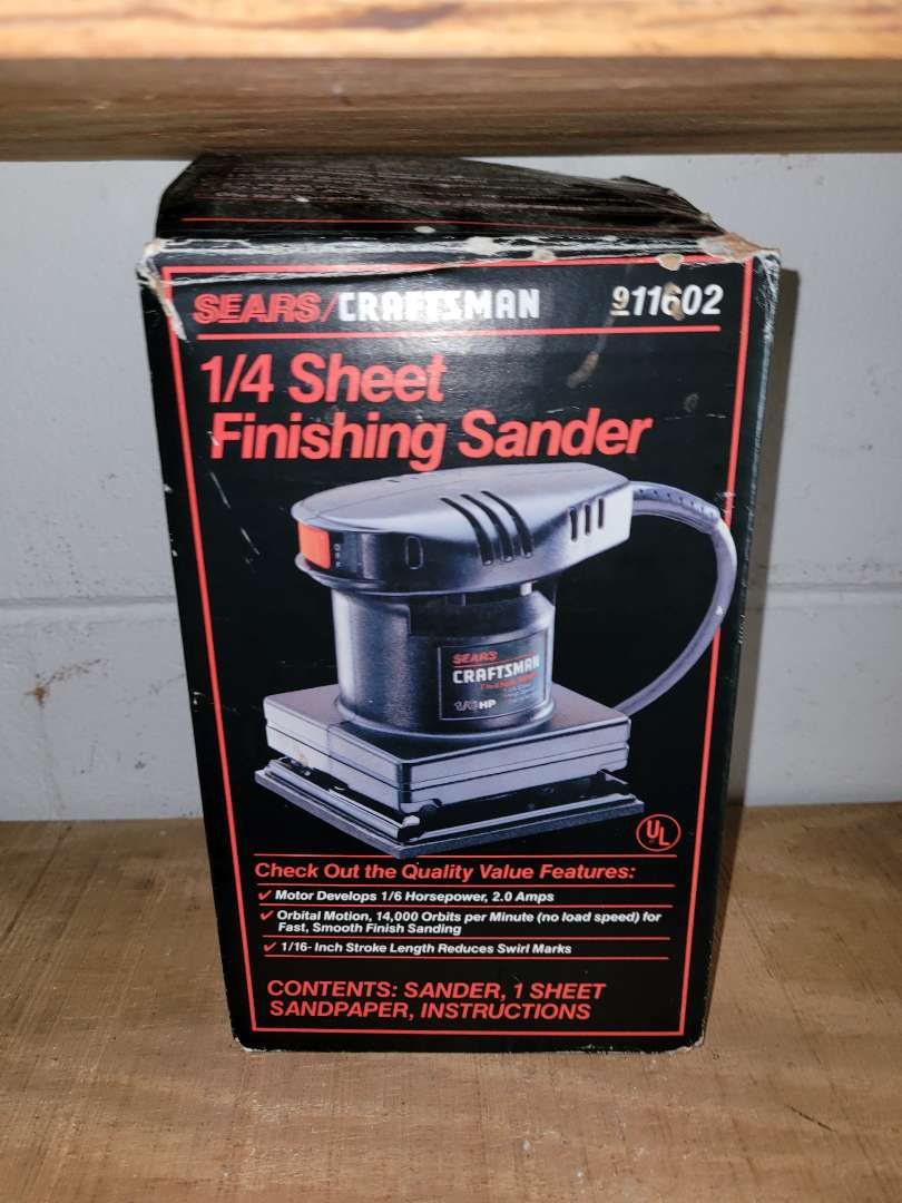 Lot # 404 1/4 Sheet Finishing Sander