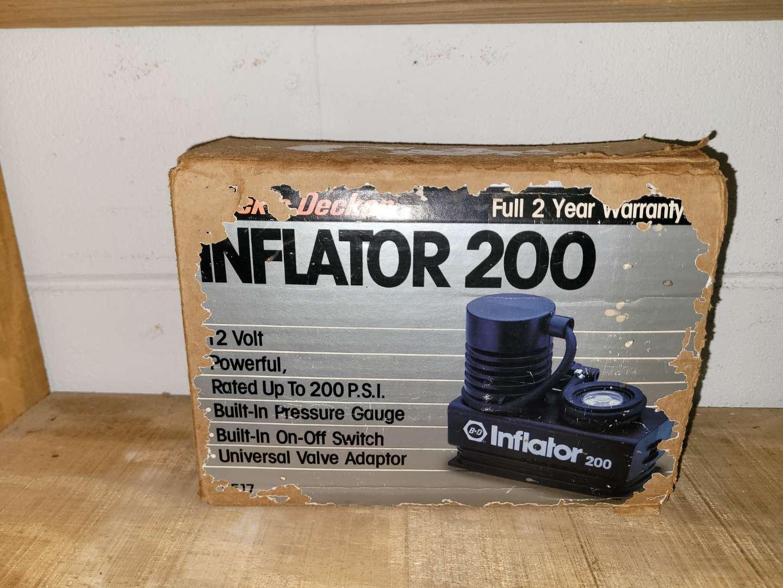 Lot # 405 Black & Decker Inflator 200