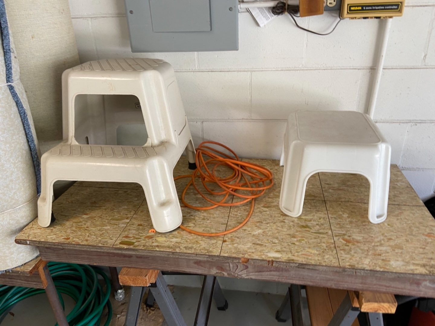 Lot # 415 (2) Step Stools & Extension Cord