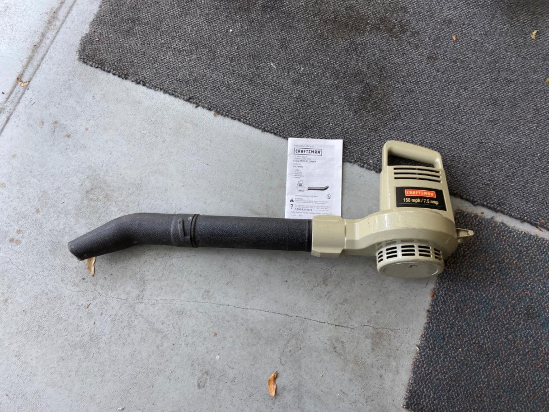 Lot # 444 Craftsman Electric Blower