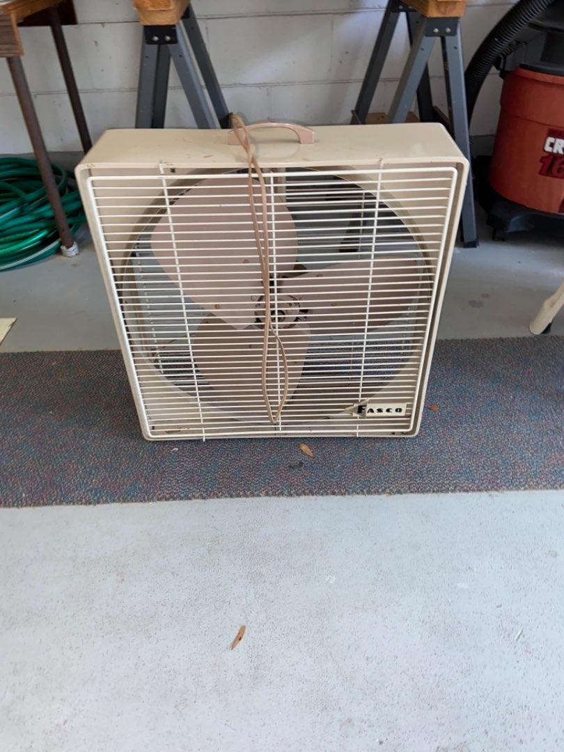 Lot # 449 Fasco Box Fan - Works great