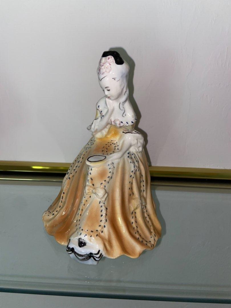 Lot # 450 Vtg Goldscheider Everlasat Pottery Victorian Woman Porcelain Figurine