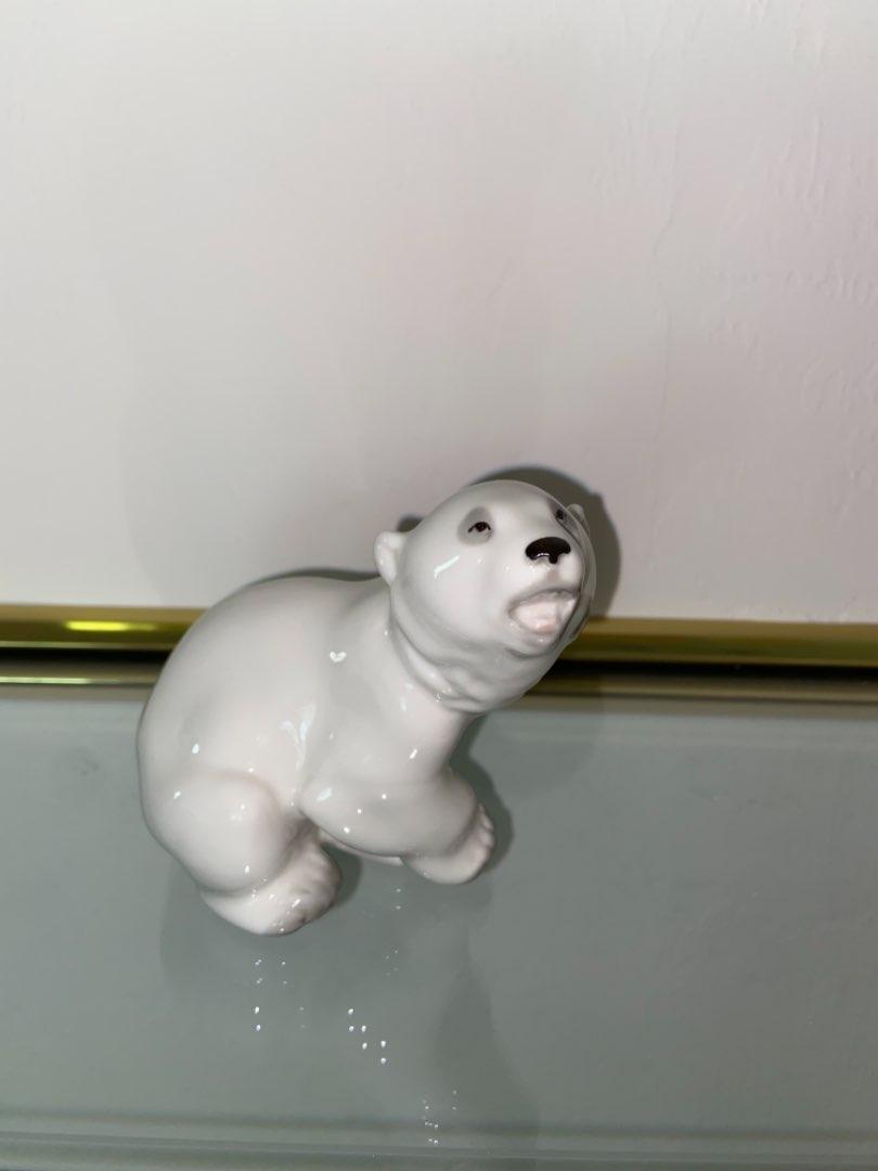 Lot # 452 Lovely Lomonosov USSR Polar Bear Porcelain Figurine Made In Russia SU420