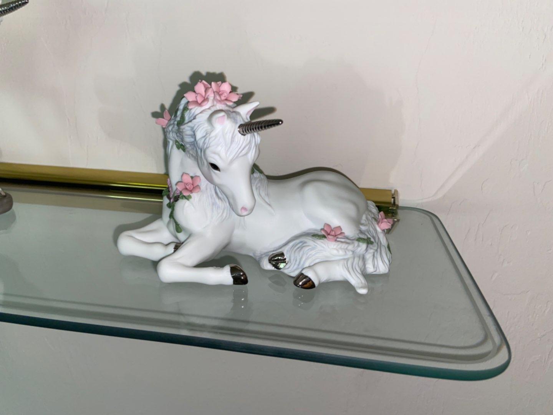 Lot # 456 Princeton Gallery Unicorn Love's Sweetness Porcelain Figurine 1990