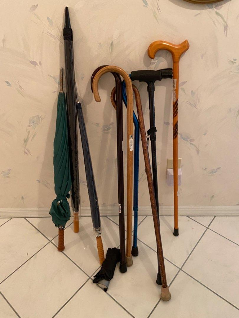 Lot # 477 Umbrellas & Canes