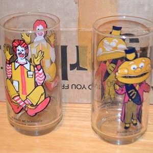 Lot # 5 CONTENTS OF SHELF 6 MCDONALDS GLASSES