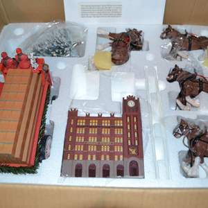 Lot # 29 BUDWEISER BREW HOUSE WITH CLYDESDALE HORSES BRADFORD EXCHANGE