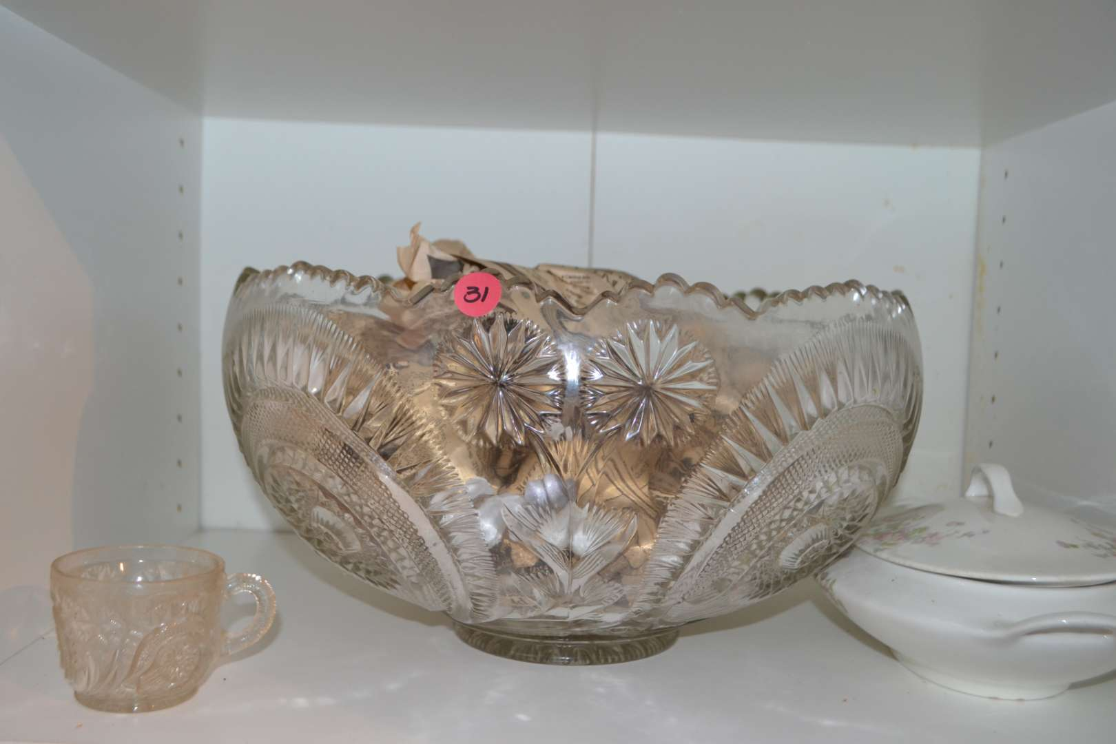 Lot # 31 CANONSBURY CHINA , PUNCH BOWL WITH CUPS